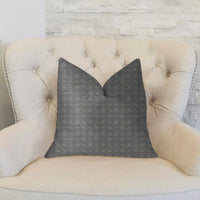 Halo Knights Blue and Gray Luxury Throw Pillow