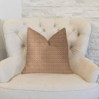 Uptown Orange and Ivory Luxury Throw Pillow