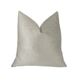 White Dove White Artificial Leather Luxury Throw Pillow