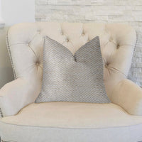 Plainville Beige Luxury Throw Pillow