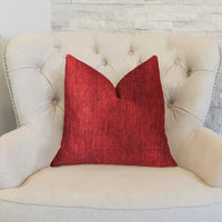 Sangria Cherry Red Luxury Throw Pillow