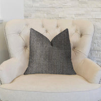 Melbourne Beige and Black Luxury Throw Pillow