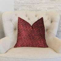 Hibiscus Burgundy Red Luxury Throw Pillow