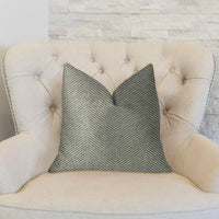 Jordyn Green and Gold Luxury Throw Pillow