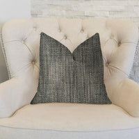 Bluejay Cayne  Blue and Gray Luxury Throw Pillow