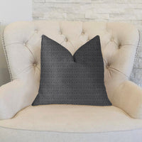 Milan Flare Black and Beige Luxury Throw Pillow