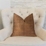 Merigold Orange and Gold Luxury Throw Pillow