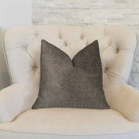 Abigail  Charcoal Luxury Throw Pillow