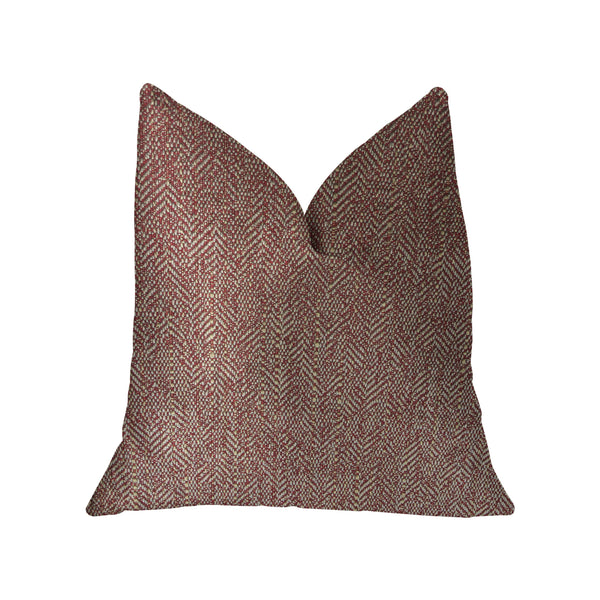 Antoinette Red and Gold Luxury Throw Pillow