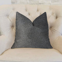 Eloquent Haze Silver Luxury Throw Pillow