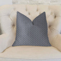 Daydream Blue and Beige Luxury Throw Pillow