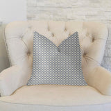 Object Lens Blue and Beige Luxury Throw Pillow