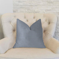 Mezmerize Blue, Beige and Black Luxury Throw Pillow