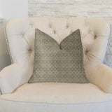 Golden Clove Blue and Beige Luxury Throw Pillow