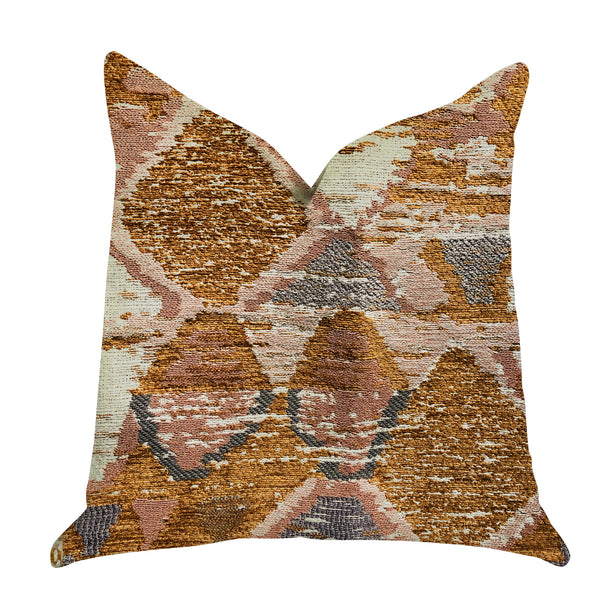 Mira Oasis Shades of Brown Luxury Throw Pillow