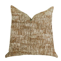 Ebony Russet Textured Luxury Throw Pillow