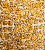 Golden Cosmo Textured Luxury Throw Pillow