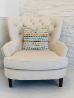 Caspian Rush Patterned Luxury Throw Pillow