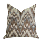 Mid Night Oblique Ridge Wave Luxury Throw Pillow