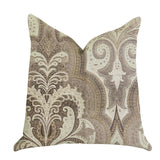 Tawny Isabella Damask Luxury Throw Pillow
