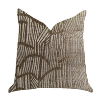 Metallic Bronze  Luxury Throw Pillow