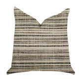 Skyway Lines Luxury Brown-Beige Multi Tones Throw Pillow