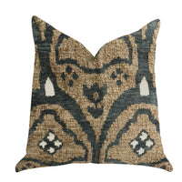 Tulip Zen Green Taupe Luxury Throw Pillow
