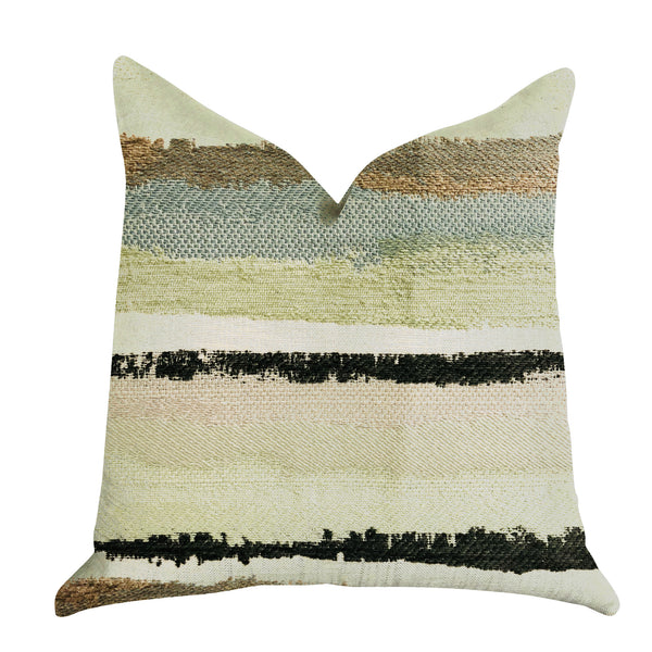 Lime Stone River Sand Multi Color Luxury Throw Pillow