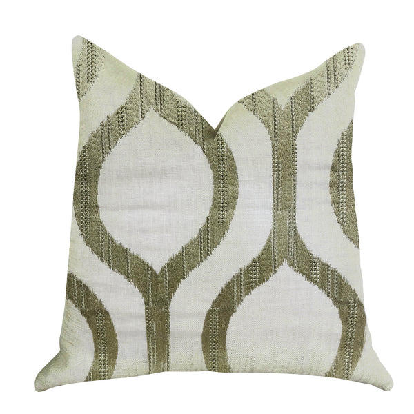 Morrocan Villa Light Grass Luxury Throw Pillow
