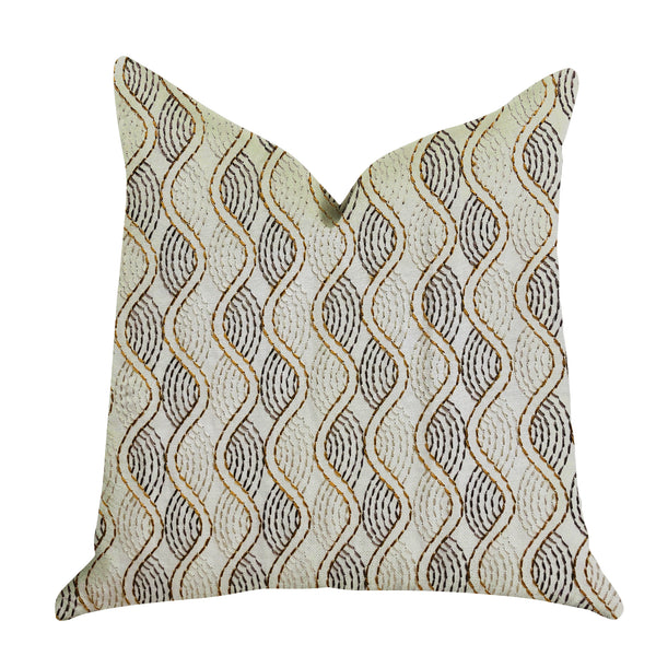 Enigma Twist Luxury Throw Pillow