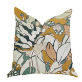 Camellia Floral Multi Color Luxury Throw Pillow