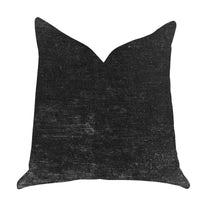 Onyx Caviar Velvet Throw Pillow in Black