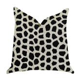 Dark Jewels Luxury Throw Pillow in Black and White