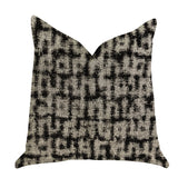 Modish Millie Luxury Throw Pillow in Black and Beige Tones