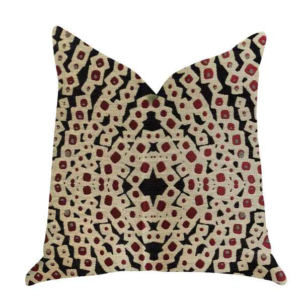 Scarlet Gem Luxury Throw Pillow in Red and Black