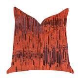 Luminous Skyscraper Luxury Throw Pillow in Orange Red Tones