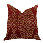 Sweet Henna Luxury Throw Pillow in Red and Gold