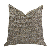 Moondust Radiance Luxury Throw Pillow in Gold Leaf