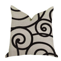 Moda Capella Black and White Luxury Throw Pillow