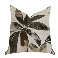 Santorini Cove Beige and Brown Tones Luxury Throw Pillow