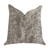Garden Breeze Luxury Throw Pillow in Gray and Beige Colors