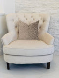 Bubbly Gal Luxury Throw Pillow in Beige Tones