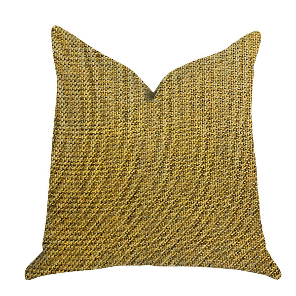 Mustard Seed Luxury Throw Pillow in Dark Yellow