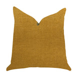 Wild Turmeric Luxury Throw Pillow in Gold