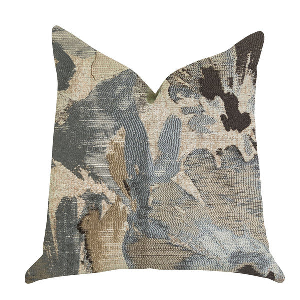 Icy Blue Wildflower Luxury Throw Pillow