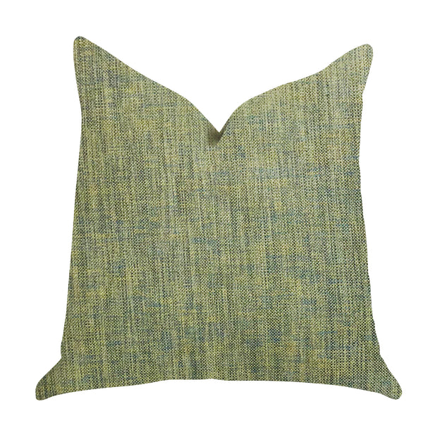 Mango Bliss Luxury Throw Pillow in Green and Yellow Tones