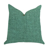 Grass Seed Luxury Throw Pillow in Green