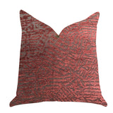 Crushed Wine Luxury Throw Pillow in Dark Red