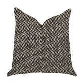 Salt and Pepper Luxury Throw Pillow in Grey and Black Tones