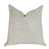 Mystical Iceberg Throw Pillow in White and Silver Tones